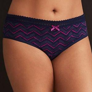 NWOT Torrid Chevron Print Lace Trim Hipster Panty
